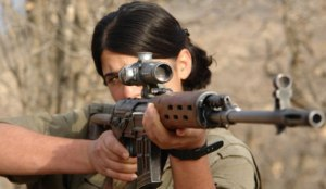 female kurdish guerrilla